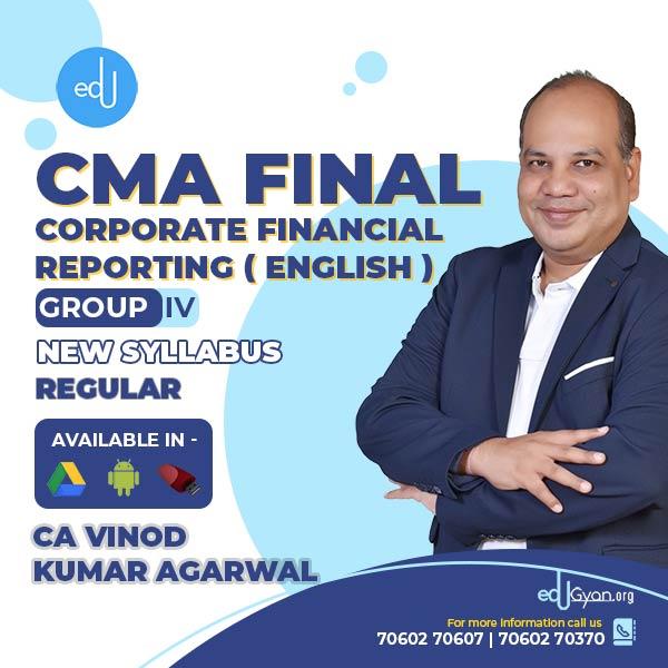 CMA Final Corporate Financial Reporting (CFR) By CA Vinod Kumar Agarwal (English)