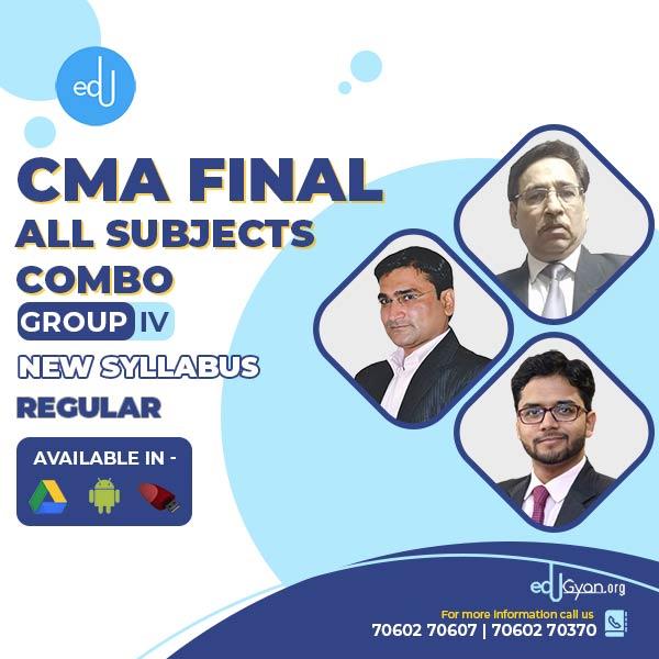 CMA Final Group-IV All Subject Combo By CA Sanjay Welkins & Manoj Batra & Nikkhil Gupta