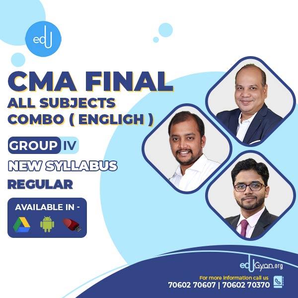 CMA Final Group- IV All Subject Combo By CA Vinod K Agarwal & Tharun Raj & Nikkhil Gupta (English)