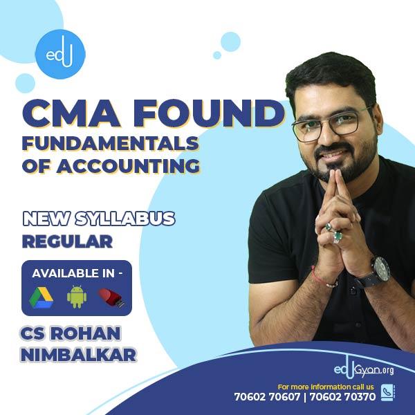 CMA Foundation Fundamentals of Accounting By CS Rohan Nimbalkar