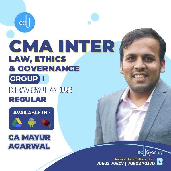 CMA Inter Laws, Ethics & Governance By CA Mayur Agarwal
