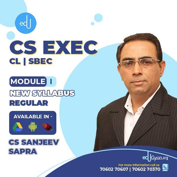 CS Executive CL+ SBEC Combo By CS Sanjeev Sapra