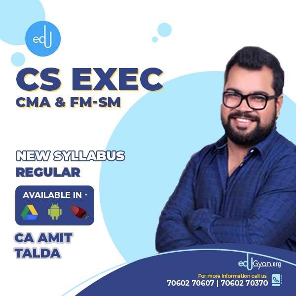 CS Executive CMA & FM-SM By CA Amit Talda