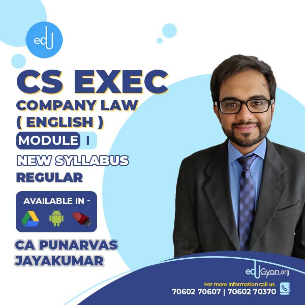 CS Executive Company Law Fast Track By CA Punarvas Jayakumar (English)