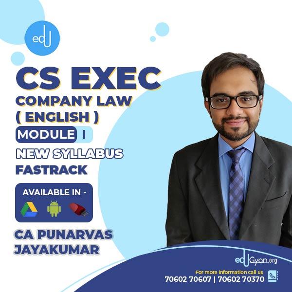 CS Executive Company Law By CA Punarvas Jayakumar (English)