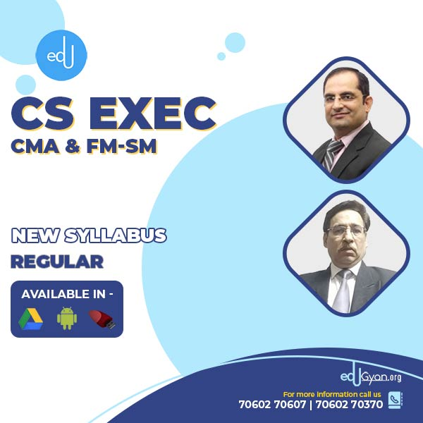 CS Executive CMA & FM-SM Combo By CMA Chander Dureja & CA Sanjay Welkins
