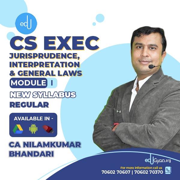 CS Executive Jurisprudence, Interpretation & Gen. Laws (JIGL) By CA Nilamkumar
