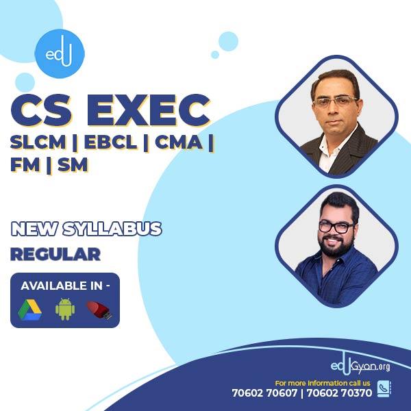 CS Executive SLCM & EBCL & CMA FM & SM Combo By CS Sanjeev Sapra & CA Amit Talda
