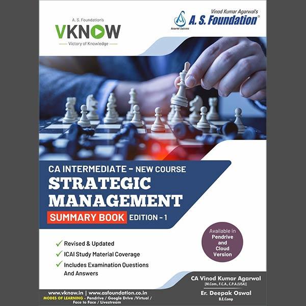 CA Inter SM Summary Book By CA Vinod k Agarwal