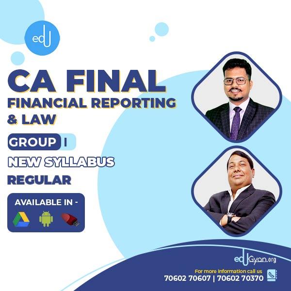 CA Final FR & Law Regular Combo By CA Darshan Khare & Parveen Jindal