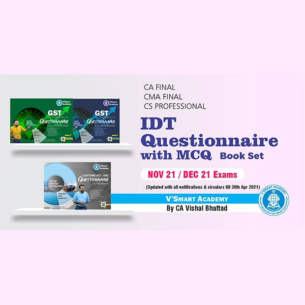 CA Final IDT Questionnaire With MCQ Book Set By CA Vishal Bhattad