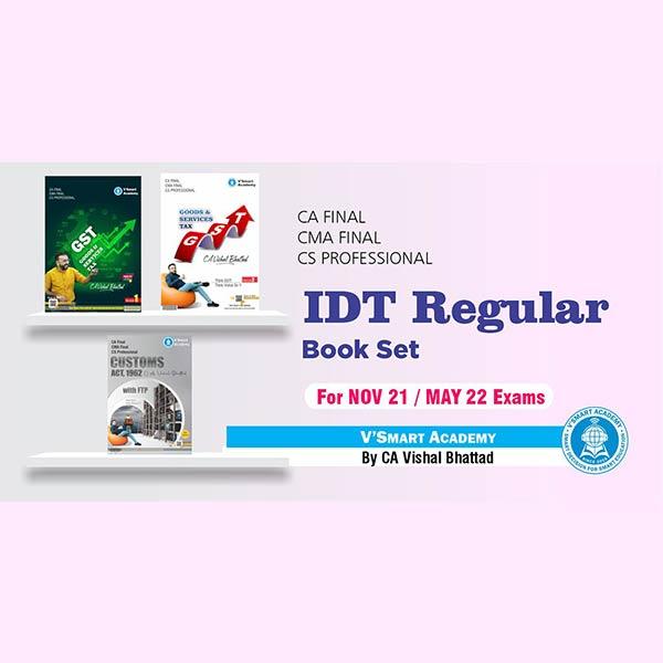 CA Final IDT Regular Full Book Set By CA Vishal Bhattad (For Nov 2021 & May 2022)
