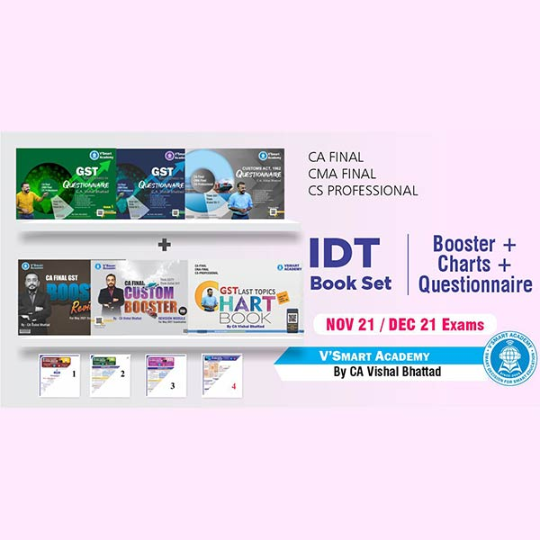 CA Final IDT Booster + Charts + Questionnaire Book By CA Vishal Bhattad