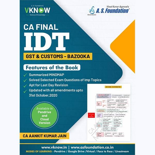 CA Final IDT - GST & CUSTOMS - BAZOOKA {COLOUR BOOK} By CA Ankit Kumar Jain