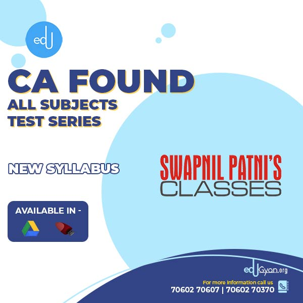 CA Foundation All Subjects Test Series By Swapnil Patni Classes