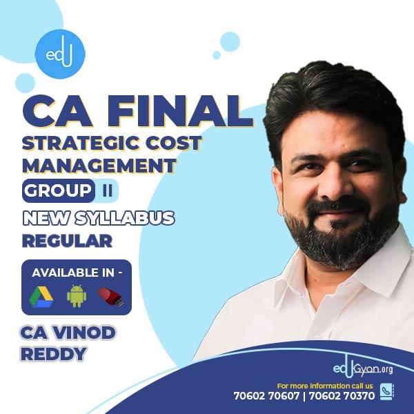 CA Final Strategic Cost Management (SCMPE) By CA Vinod Reddy