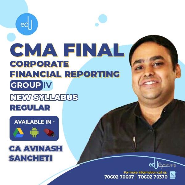 CMA Final Corporate Financial Reporting (CFR) By CA Avinash Sancheti