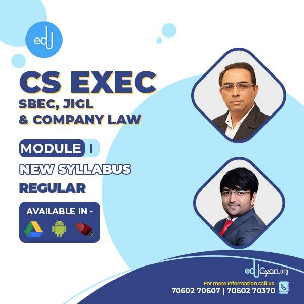 CS Executive Company Law+JIGL+SBEC Combo By CS Sanjeev Sapra & CS Ankush Bansal