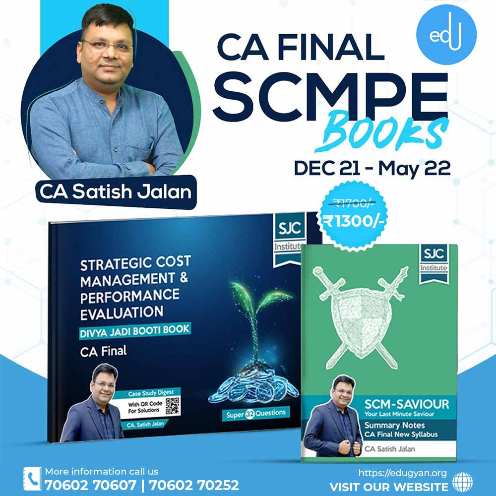 CA Final SCM & PE Divya Jadi Booti + SCM Saviour Combo By CA Satish Jalan