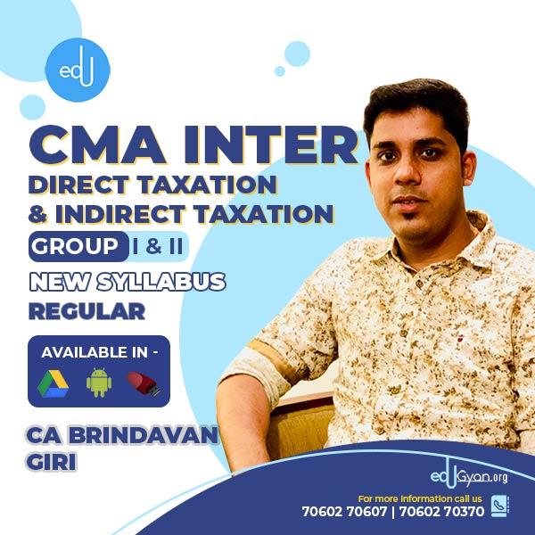 CMA Inter Direct Tax & Indirect Tax Combo By CA Brindavan Giri