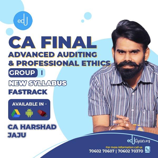 CA Final Advanced Auditing & PE By CA Harshad Jaju