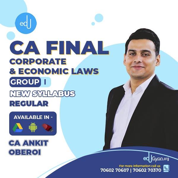 CA Final Corporate & Economic Laws By CA Ankit Oberoi