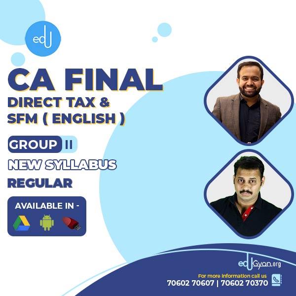 CA Final DT & SFM Combo By CA Bhanwar Borana & CA Mayank Kothari (English)