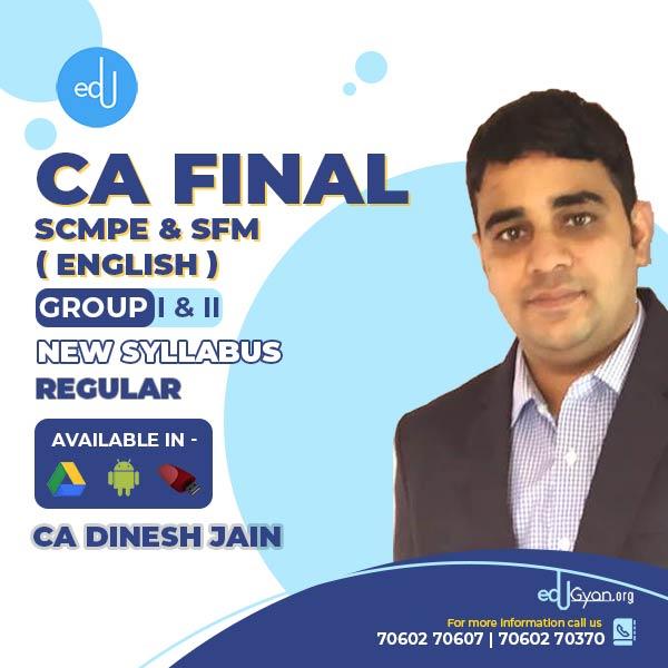 CA Final SCMPE & SFM Combo By CA Dinesh Jain (English)
