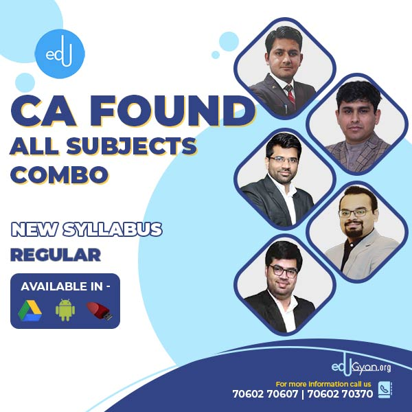 CA Foundation All Subjects Combo By AVJ Academy