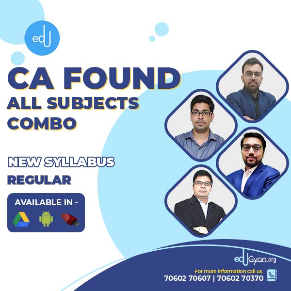 CA Foundation All Subjects Combo By Concept Online Classes