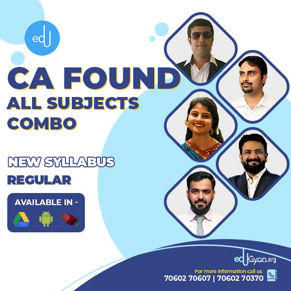 CA Foundation All Subjects Combo By Expert Academy