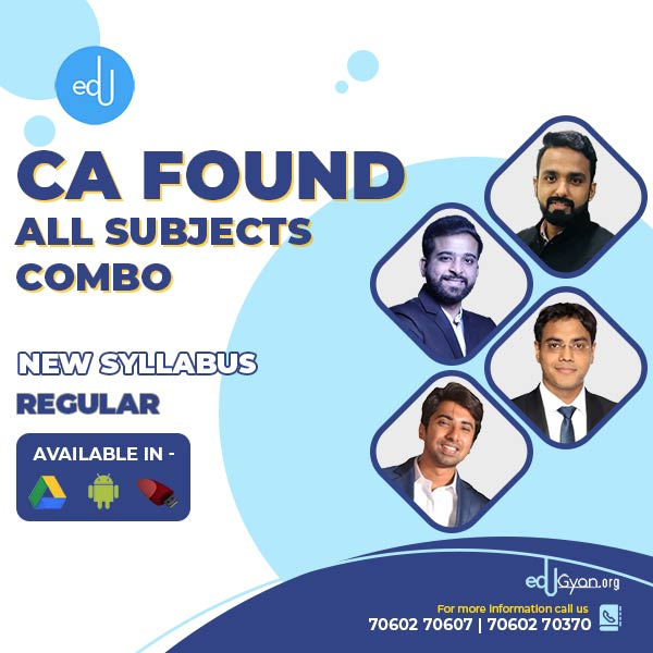 CA Foundation All Subjects Combo By Vsmart Academy