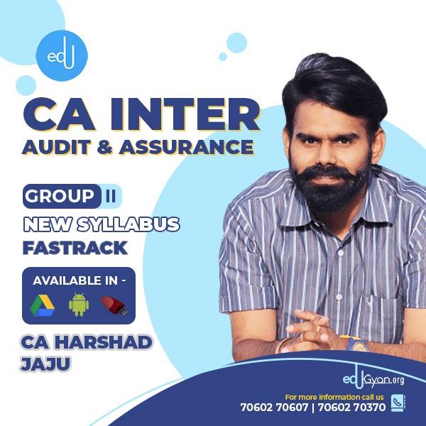 CA Inter Audit & Assurance Fast Track By CA Harshad Jaju