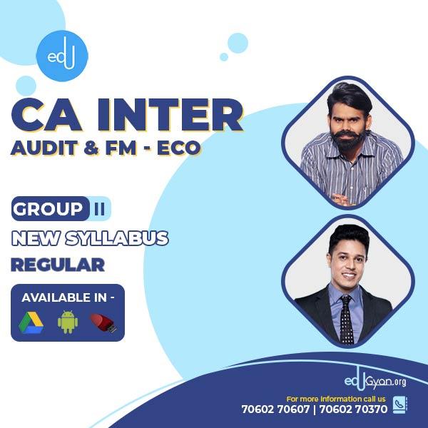 CA Inter Audit & FM-Eco Combo By CA Harshad Jaju & CA Swapnil Patni