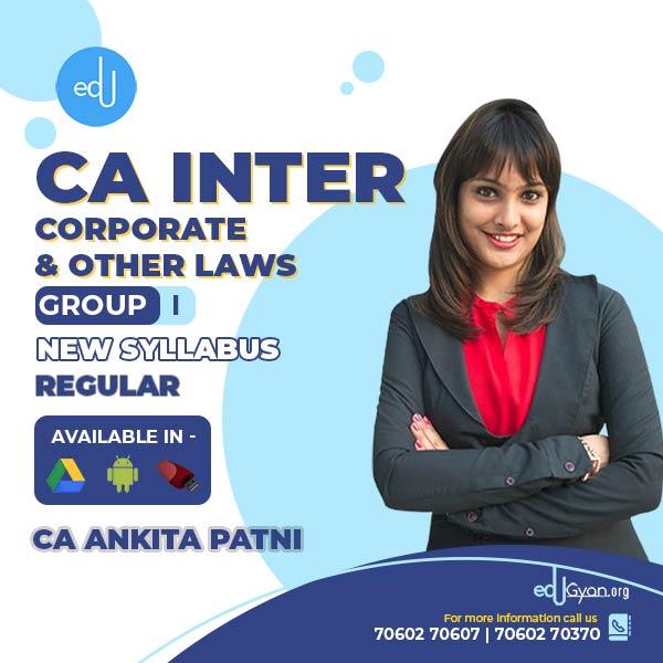 CA Inter Corporate & Other Laws By CA Ankita Patni