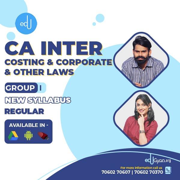 CA Inter Costing & Corporate Laws Combo By CA Harshad Jaju & Ankita Patni
