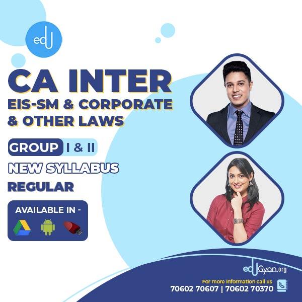CA Inter EIS-SM & Corporate Laws Combo By CA Swapnil Patni & Ankita Patni