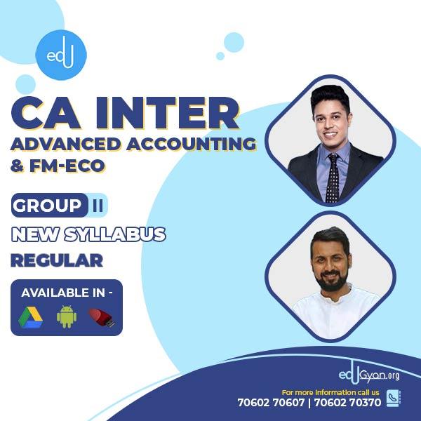 CA Inter FM-Eco & Adv. Accounting Combo By CA Swapnil Patni & CA Anand Bhangariya