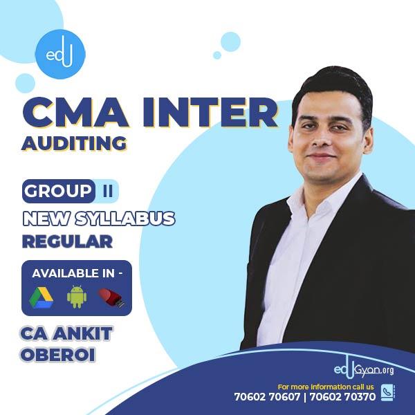 CMA Inter Auditing By CA Ankit Oberoi