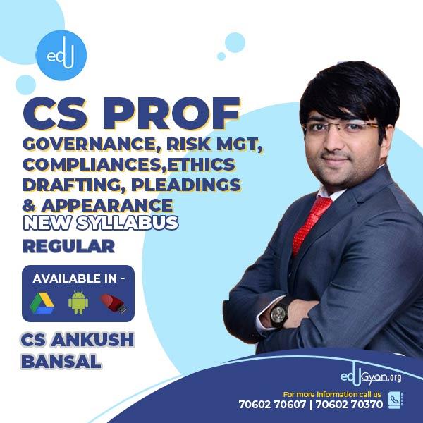 CS Professional Governance, Risk Mgt, Compliances & Ethics + Drafting, Pleadings & Appearances Combo By CS Ankush Bansal