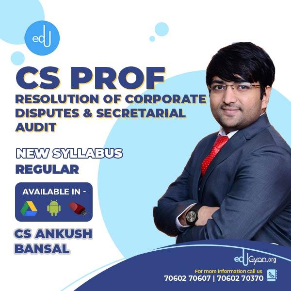 CS Professional Resolution of Corporate Disputes (RCDNCR) + Secretarial Audit (SACMD) Combo By CS Ankush Bansal