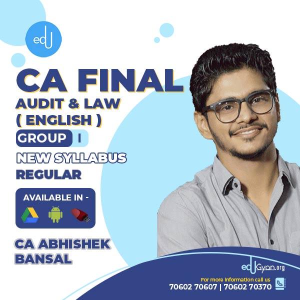 CA Final Audit & Law Fast Track Combo By CA Abhishek Bansal (English)