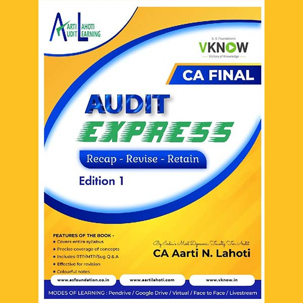 CA Final Audit Express Revision Book by CA Aarti Lahoti Mam